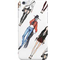 Fashion sketches print iPhone Case/Skin