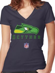 Safari Zone Scyther Women's Fitted V-Neck T-Shirt