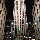 Rockefeller Center in Christmas by mertozgur