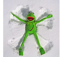 Kermit Snow Angel (1st place Boston Globe) Photographic Print