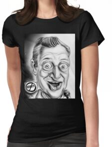 Rodney Dangerfield Caricature Womens Fitted T-Shirt