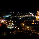 Newcastle City By Night by Melina Roberts