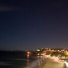 Newcastle Beach By Night by Melina Roberts