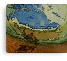 Sea Turtle art Canvas Print