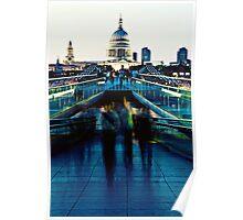 Stroll on the Bridge Poster