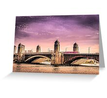 Longfellow Bridge, Boston MA Greeting Card