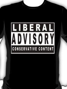 Conservative Content - Leans Right - Warning of Conservative Content - Pro-GOP - Republicans - Politics T-Shirt