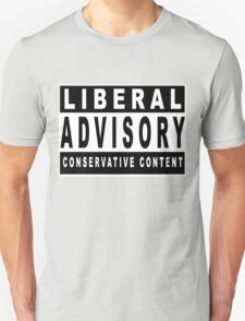 Conservative Content - Leans Right - Warning of Conservative Content - Pro-GOP - Republicans - Politics T-Shirt