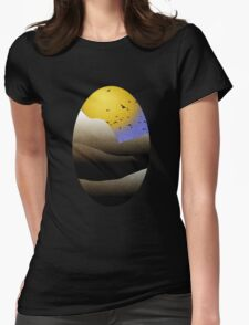 Mountain Sunset Landscape Womens Fitted T-Shirt