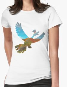 Ho-oh used fly Womens Fitted T-Shirt