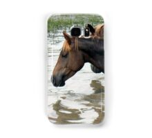 """""""Horses with Attitude no. 7, 'Race Ya Across the Pond, Joe. Loser Buys a Round!'""""... prints and products Samsung Galaxy Case/Skin"""