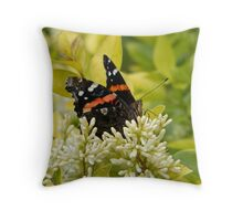 Butterfly Sips Throw Pillow