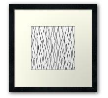 Modern Wavy Lineart Framed Print