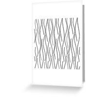 Modern Wavy Lineart Greeting Card
