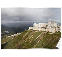 Krac Du Chevalier Castle in Syria Poster