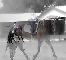 Dressage Ghosting by Bevin Allison
