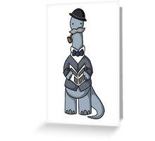 DinoSirs- BrontoSirus Greeting Card