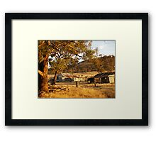Rural Rust.- NSW Australia Framed Print