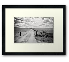 Mallee Farm Track, South Australia Framed Print