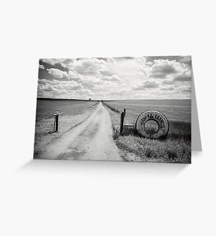Mallee Farm Track, South Australia Greeting Card