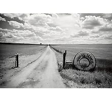Mallee Farm Track, South Australia Photographic Print
