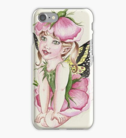 Baby rose fairy faerie fantasy iPhone Case/Skin