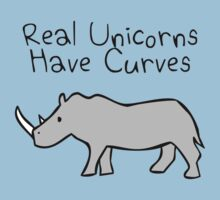 Real Unicorns Have Curves Kids Tee