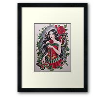 Red rose goth steampunk fairy faerie fantasy Framed Print