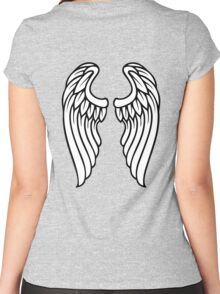 Vector Wings Women's Fitted Scoop T-Shirt