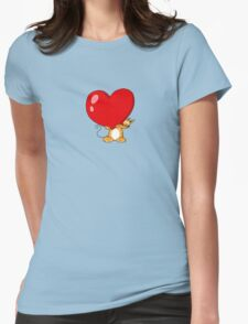 orange cat with a big red heart T-Shirt