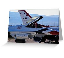 USAF Thunderbird #1 prepares for demo Greeting Card