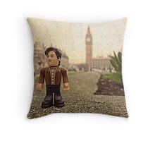 Dr Who at Big Ben Throw Pillow