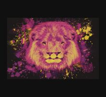 Neon Splatter Two-Mouthed Lion T-Shirt