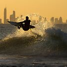 Fitting in a surf before sunset by Liza Yorkston