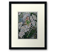 Spiraea ,fairy, faerie, fantasy, white shrub, bush  Framed Print