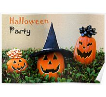 Halloween party card Poster