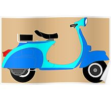 Retro Scooter Poster