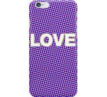 RETRO PURPLE LOVE!  iPhone Case/Skin
