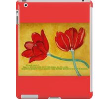 Tulips and Psalm 100 iPad Case/Skin