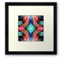 Reflection of Texture and Color Framed Print