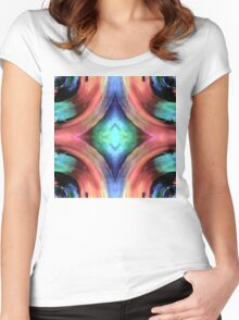 Reflection of Texture and Color Women's Fitted Scoop T-Shirt