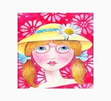 Whimisical Girl with Yellow Hat Unisex T-Shirt