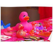 Famous Dutch pink-water-ducks.... Poster