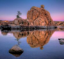 Big Rock Dusk by Bob Larson