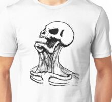 Screaming Ink Skull Unisex T-Shirt