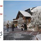 Christmas Holiday Card 5542 - Santa's Log House LIDO Riga Latvia by FirstTree