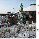 Christmas Holiday Card 5529 - Santa's Workshop LIDO Riga Latvia by FirstTree