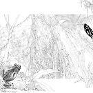 McDonald's Frog (ink draft) by Laura Grogan