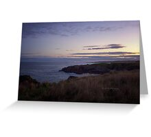 Sunset on Cruden Bay - North East coast of Aberdeenshire, Scotland Greeting Card