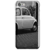 Vintage Fiat 500 Rome Italy Black and White iPhone Case/Skin